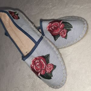 Charter Club Striped Embroidered Espadrilles